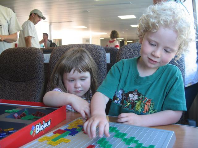 Blokus on the Ferry (Adelie and Torsten)