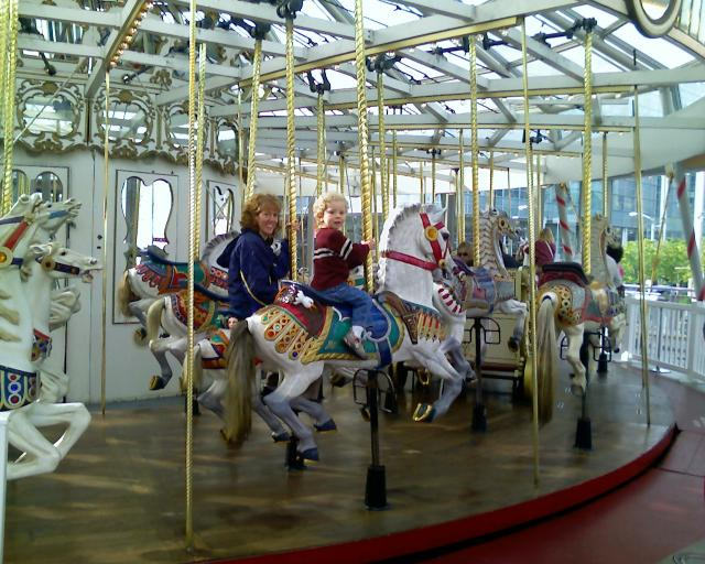 Carrie and Torsten on the Carosel