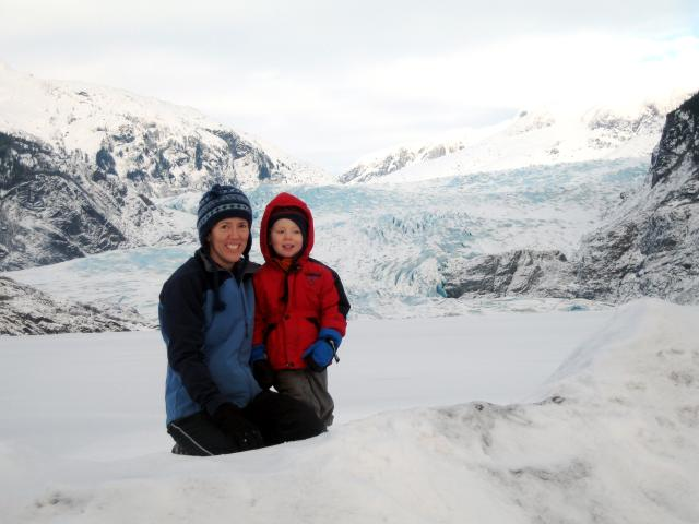 Carrie and Torsten by Mendenhall Glacier